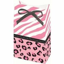 Baby Shower Favor Bags  - Pink Cheetah Print - Set of 12 (or Birthday Favors too