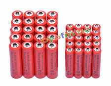 20 AA 3000mAh + 20 AAA 1800mAh 1.2V NI-MH rechargeable 2A 3A Red Cell