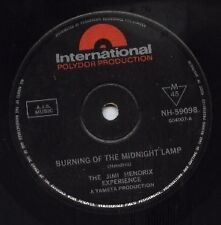 "JIMI HENDRIX   Rare 1967 Aust Only 7"" OOP Single ""Burning Of The Midnight Lamp"""