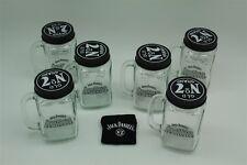 6x Jack Daniels Lynchburg Lemonade Glas Original mit Deckel und Rezept