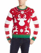 The Ugly Christmas Sweater Kit Men's Make Your Own Ugly Christmas Sweater MEDIUM