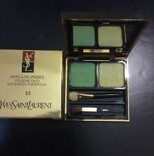 YVES SAINT LAURANT-FARD A PAUPIERES POUDRE DUO-EYE SHADOW POWDER DUO-#93- NIB