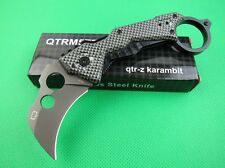 New karambit Claw Silver Stainless Steel & Aluminum liner Knife Folding Gift