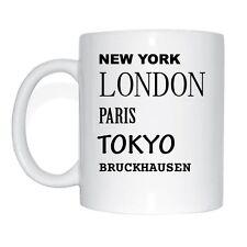 New York, Londres, Paris, Tokyo, BRUCKHAUSEN Tasse à café