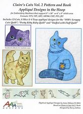 CLAIRE'S CATS VOL. 2, Machine Embroidery CD Designs From Anna's Awesome Applique