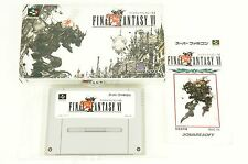 Final Fantasy 6 VI SNES SQUARE Nintendo Super Famicom Box Japan USED