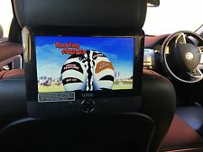 "7"" Multi Region In Car Headrest Portable Rechargable DVD Player Car Mount Strap"