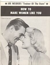 JOE WEIDER How To Make Women Like You Bodybuilding Course Bodybuilder Booklet