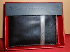 BRAND NEW IN A BOX   PERRY ELLIS  PORTFOLIO  BLACK MEN'S WALLET