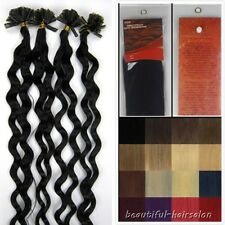 """New 20"""" Keratin Nail/U Tip Remy Human Hair Extensions 100s 8Colors Curly Wavy"""