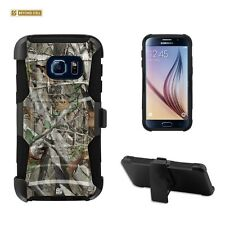 SAMSUNG Galaxy S7 Hybrid Rugged Case Kickstand & Holster Belt -Autumn Camouflage