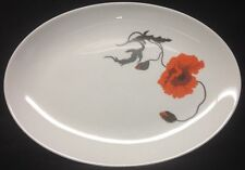 Wedgewood Cornpoppy Oval Serving Platter Susie Cooper Design