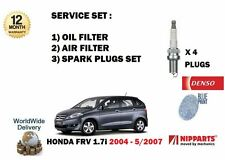 FOR HONDA FRV VTEC 1.7i 2004-5/2007  SERVICE KIT OIL AIR  FILTER SET + PLUGS SET