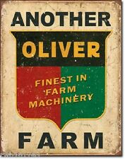 Another Oliver Farm TIN SIGN garage wall decor vintage tractor metal poster 1775