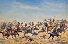 Custers Last Stand  by Theodore B Pitman  Giclee Canvas Print  Repro