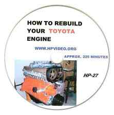"How to Rebuild your Toyota 4MG 5MG 7MG Celica Supra Engine Manual Video ""DVD"""