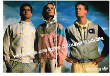 PUBLICITE ADVERTISING  1987   ADIDAS  collection  WINDCOAT (2 pages)