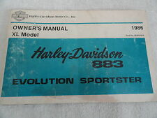 1986 Harley Davidson 883 Evolution Sportster Motorcycle Owners Manual