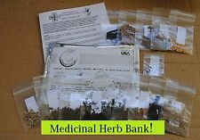 Medicinal Herb Bank-Heirloom-Prepper Kit- Seed Bank 15 healing herbs! Medicinal