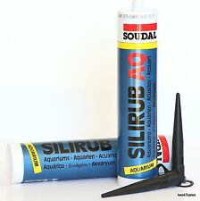 Black Quality Pond Marine Fish Tank Silicone Sealant Sealer aquarium glue Soudal