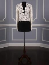 AUTHENTIC Monique Lhuillier Lea Ivory Alencon Lace NEW Top Jacket RETURN POLICY