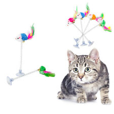 Funny Pet Kitten Play Length Interactive Toy Cat Teaser Wand Mouse Ball Feather
