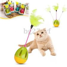 Pet Dog Kitten Cat Teaser Cute Feather Tumbler Ball Bell Funny Training Play Toy
