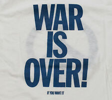 "Beatles John Lennon t-shirt Vintage ""War is Over"" Late 70s Tee S Small Yoko Ono"