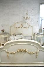 French Bed Painted Cottage Shabby Chic Bed Romantic  Bed Double /Full / Twin