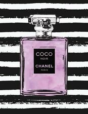 COCO CHANEL BLACK STRIPES ART IMAGE A4 Poster Gloss Print Laminated