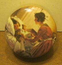 1991 Edwin M Knowles Porcelain Music Box A MOTHER'S LULLABY by Norman Rockwell!!