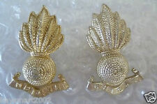 Staybrite- Royal Canadian Artillery Collar Badges- PAIR (A/A 100%ORG) JR GAUNT
