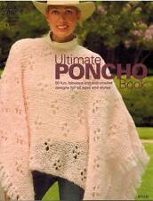 Ultimate Poncho Book 50 Knit & Crochet PATTERNS Wraps Shawls Capelet Adult Kids