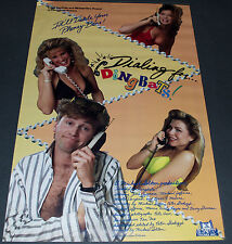 DIALING FOR DINGBATS 1989 ORIG. MOVIE POSTER! TROMA FILMS COMEDY CLASSIC!