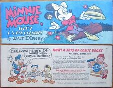 WHEATIES 1950 CEREAL PREMIUM MINI GIVEAWAY PROMO D-8 MINNIE MOUSE GIRL EXPLORER