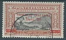 1924 SOMALIA USATO MANZONI 20 B SIGLA PERITO AL VERSO - RR2025