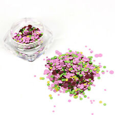 Ultrathin Nail Art DIY Acrylic Tip Decor Colorful Round Sequins Mixed UV Gel HOT
