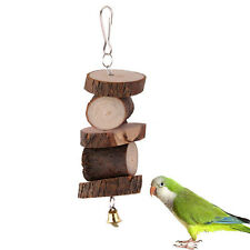 Papagei Vogel Schwingen Natürlich Holz Spielzeug Sittich Cockatiel Budgie Neu