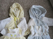 My Child Doll x2 Stripe Dungaree Outfits, Blue Set & Yellow Set