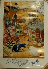 1990's Signed by Artist E. McCann Northern Ireland Political Poster The Troubles