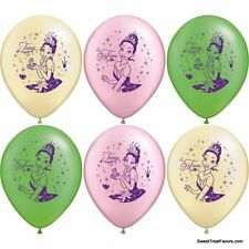 PRINCESS FROG Party Balloons Latex Supplies Favors Decoration Tiana Disney x6 NW