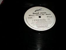 Donell Jones Where I Wanna Be Rmx VINYL house mixes instrumental