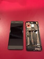 ECRAN Sony Xperia XA Noir TACTILE  + CHASSIS + LCD F3111,F3113,F3115 (OEM)