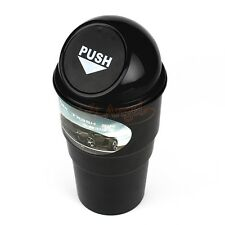 Car Black Office Home Auto Waste Trash Rubbish Bin Can Garbage Dust Case Holder