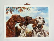 Vintage Stanford Fenelle Irish English Setters and Pointer Vacuum Form 3D Print