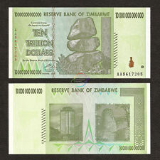ZIMBABWE 10 Trillion Dollars, AA, 2008, P-88, 50/100 Trillion Series, UNC