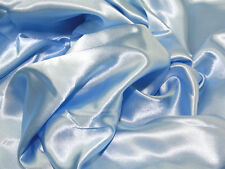 Light Blue Slipper Satin/Silky/Shiny Dress Fabric 150cm Wide SOLD BY THE METRE