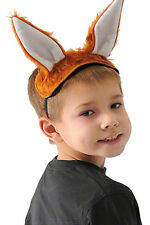 Fox Ears & Tail Kids Animal Fancy Dress Costume Fantastic For World Book Day
