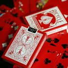 RED BLACK REVERSED BACK Bicycle deck playing cards 2n lady bug magic trick gaff
