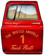 Busted Knuckle Garage Mechanic Truck Parts Metal Sign Man Cave Shop Club BUST149